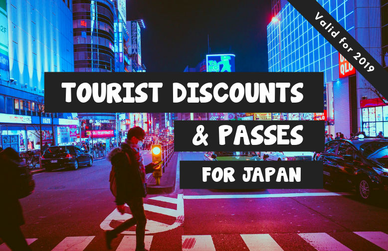 Man walking in Tokyo. Tourist Discounts and Passes for Japan.