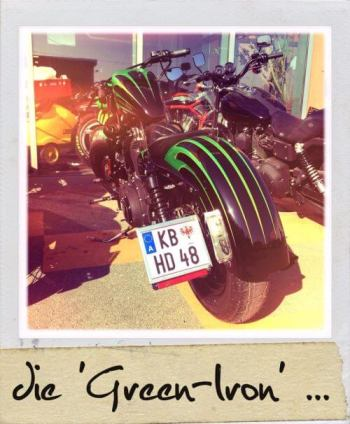 HD Sportster 48 Green Iron