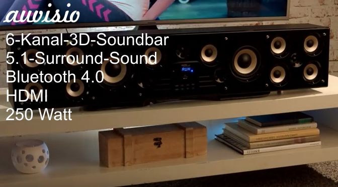 Hardwaretest: Auvisio 6-Kanal-3D-Soundbar - das Monster unter den Barren