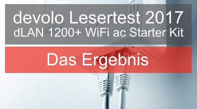 devolo Lesertest 2017 – Das Ergebnis zum dLAN 1200+ WiFi ac Starter Kit
