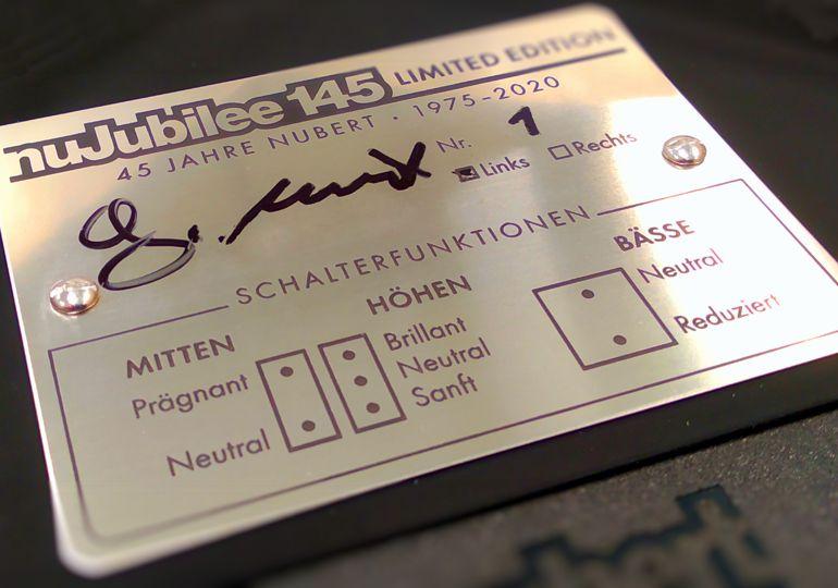 Einmalige Chance: Charity-Auktion der nubert nuJubilee 145 mit den Seriennummern 1 und 2