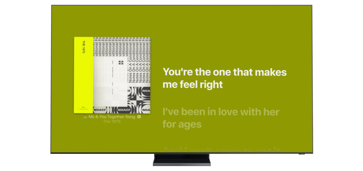 Samsung launcht heute Apple Music Lyrics für Smart TVs