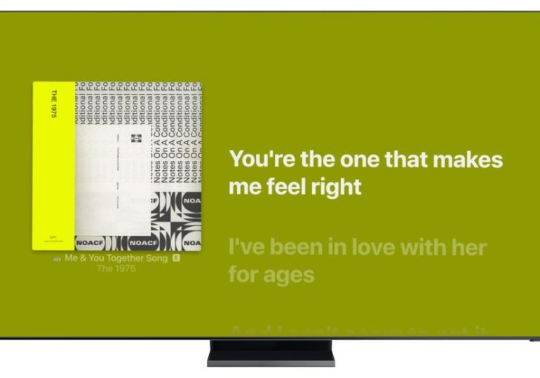 Samsung launcht heute Apple Music Lyrics für Smart TVs