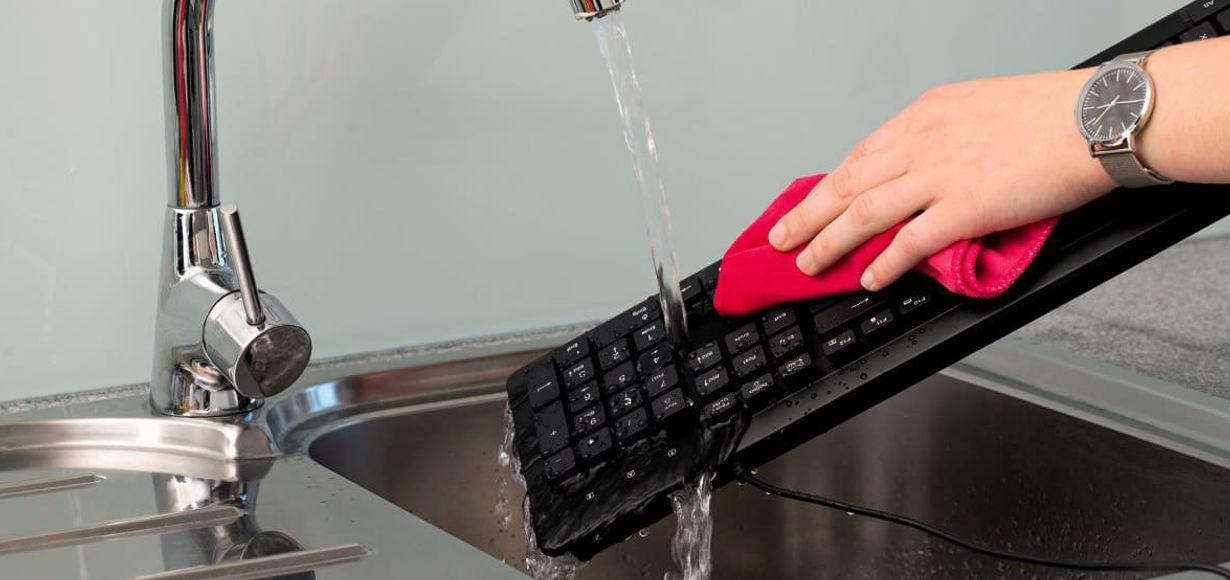 """Wasserfeste Tastatur """"KC-600"""" von Hama"""