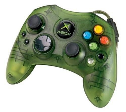 Xbox Original Controller Grn Transp Microsoft Gebraucht Xbox Zubehr Controller