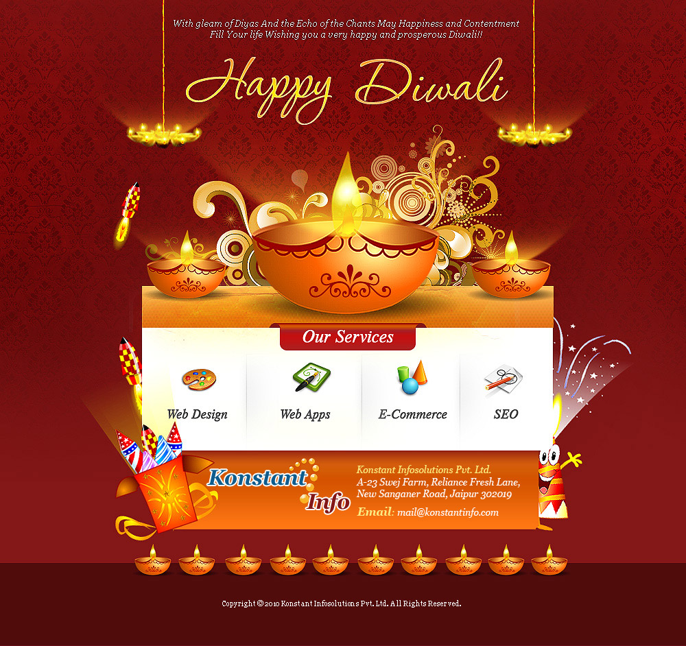 Click on the icon below to copy the email template. Happy Diwali Konstantinfo