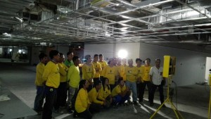 LED Tvs at Konstruktura project sites
