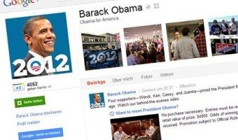 Barack Obama auf Google plus