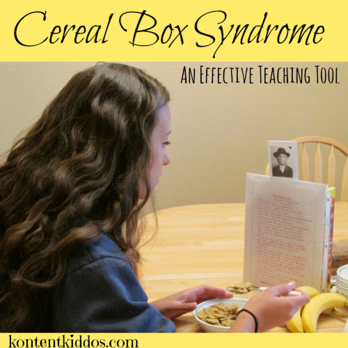 cereal box syndrome an effective teaching tool