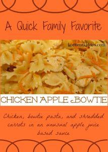 Chicken Apple Bowtie