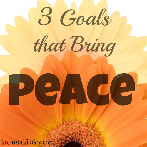 3 goals that bring peace