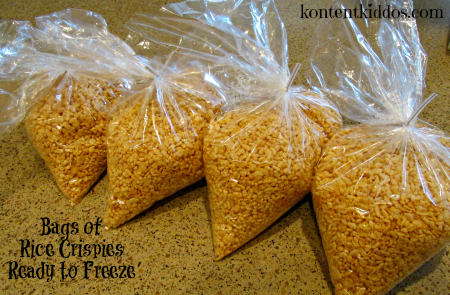 bags of rice crispies