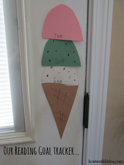 ice cream cone goal tracker