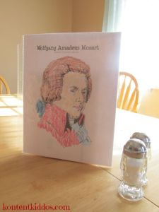 Mozart on tabletop