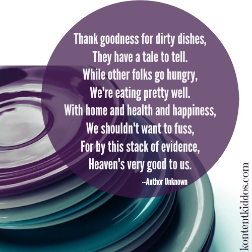 Thank goodness for dirty dishes