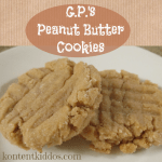 GP's Peanut Butter Cookies