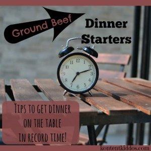 Ground Beef Dinner Starters
