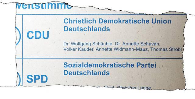 Stimmzettel Baden-Württemberg zur Bundestagswahl 2013 (Ausriss)
