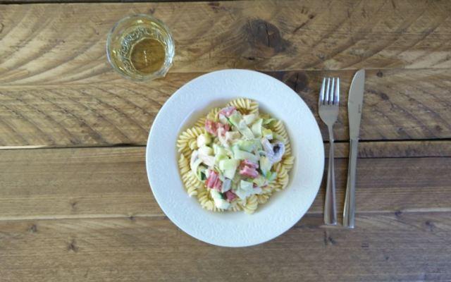 Pasta met roomsaus (vegetarisch)