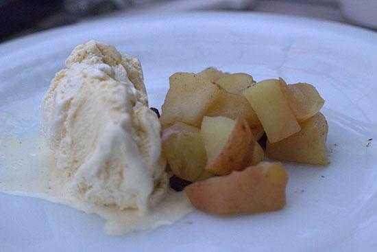 Appel pakketjes met vanilleijs