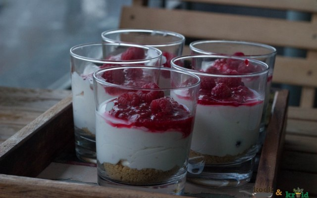 cheesecake in een glas