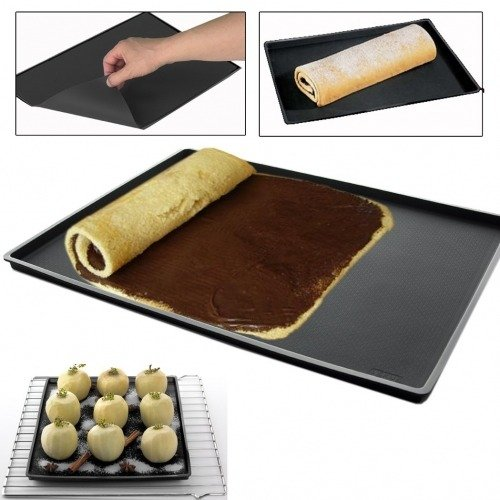 tapis de cuisson silicone avec rebord