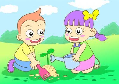 Tree Planting By Kids by AKARAKINGDOMS
