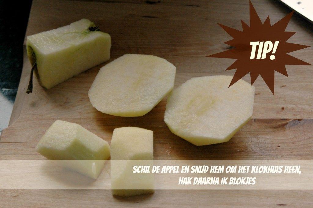 tips voor appel snijden