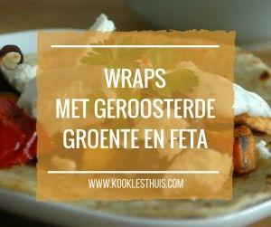 wraps met geroosterde groente