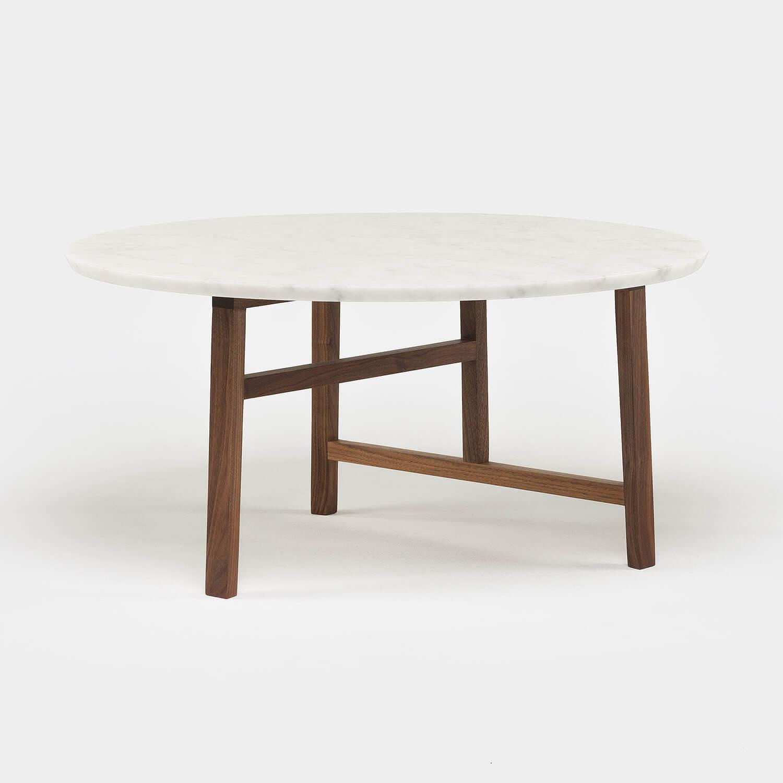 trio round coffee table marble top kooku