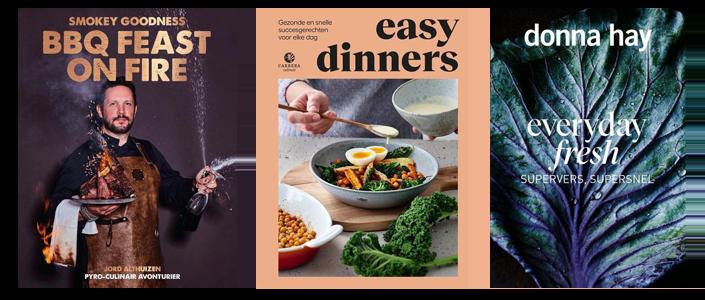 Kookinspiratie uit vele mooie kookboeken