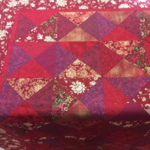 Candice red oriental quilt
