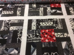 Jennifer Down red and black quilt