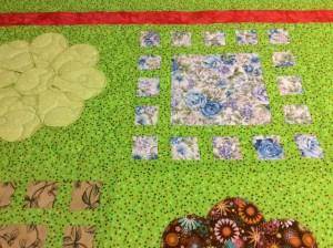 Elaine Bonham lime green quilt