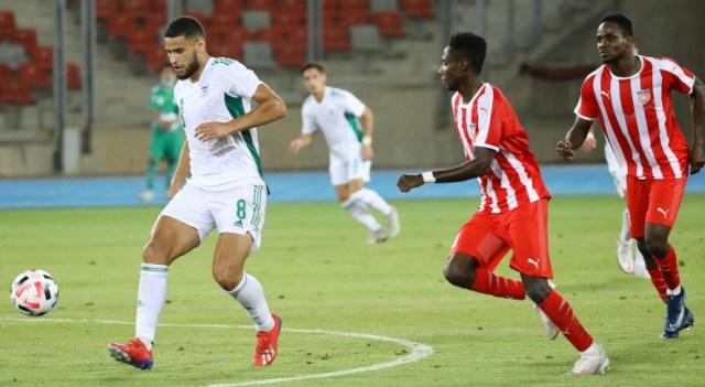 عمورة يقود المنتخب المحلي للفوز ضد ليبيريا بخماسية بملعب وهران الجديد 2