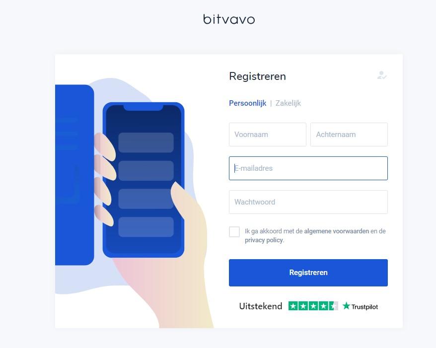 registreren bij Bitvavo