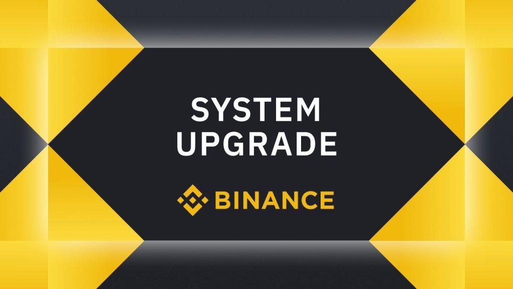 Systeem upgrade Binance