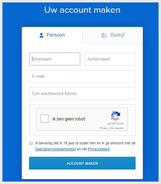 Registreren bij Coinbase