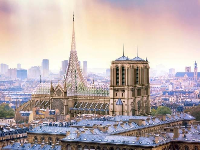 """Yanan Notre Dame'a """"Yeniden Doğuş"""" Projesi: Çatısı Yoksullar İçin Bir Tarlaya Dönüşebilir"""