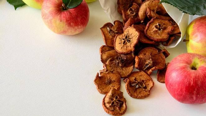 ballı tarçınlı elma cipsi Yaz Aylarında İyi Gidecek Düşük Kalorili 8 Atıştırmalık