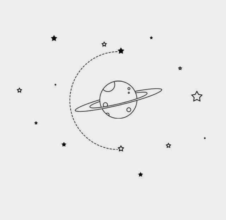satürn illustrasyon