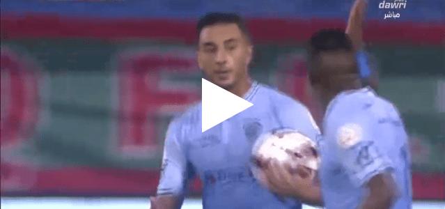 عزيز بوحدوز يتألق في الدوري السعودي ويسجل هدفا رائعا