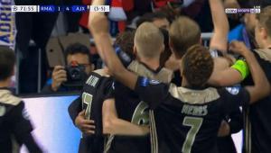 هدف اياكس الرابع العالمي في مرمى ريال مدريد بدوري ابطال اوروبا