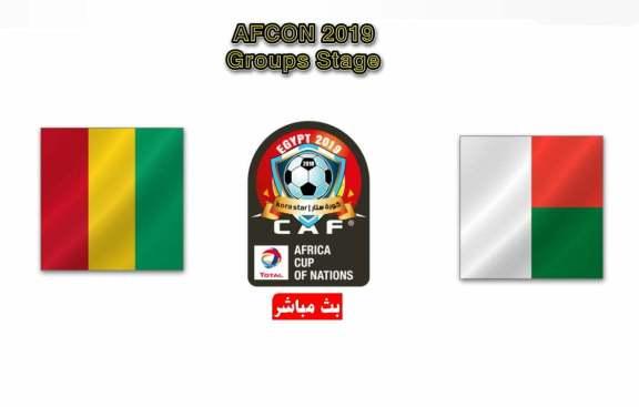 مشاهدة مباراة غينيا ومدغشقر بث مباشر 22-06-2019 كاس الامم