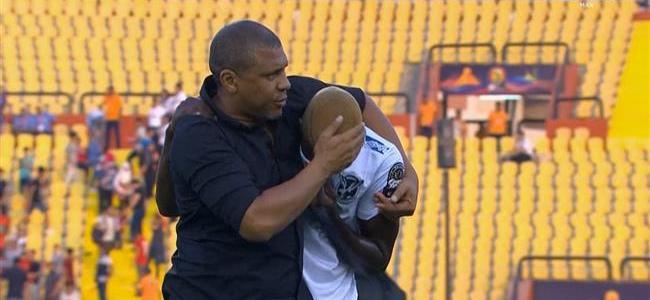 المغرب وناميبيا .. بكاء صاحب الهدف القاتل بعد نهاية المباراة