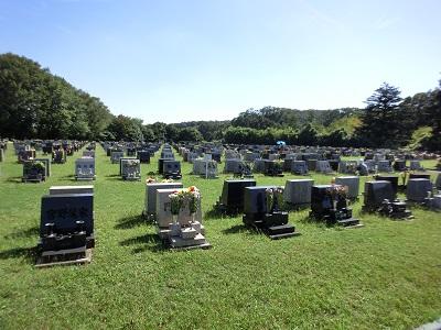 広大な墓地公園だ