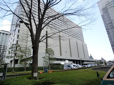 東京地裁の入ったビル
