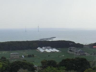 NEDOの実証洋上風力発電設備(銚子沖3km)