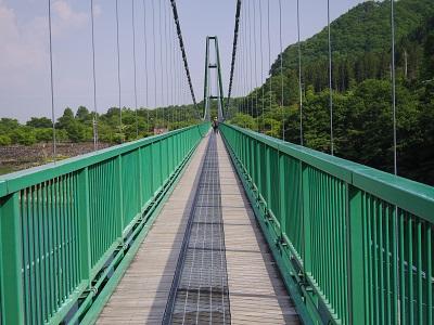 全長320m。吊り橋としては国内で3番目の長さとか