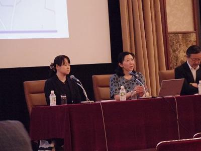 コンゴの性暴力と紛争を考える会の米川正子代表(右)と華井和代副代表(左)